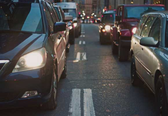 guía para vagos tráfico coches