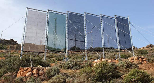 agua del aire paneles redes