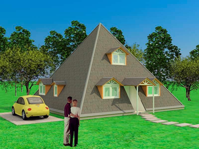 exterior casa piramidal