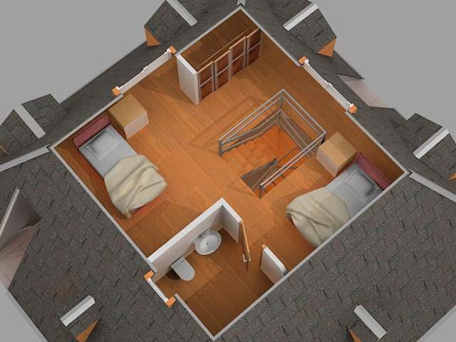 planta superior casa piramidal