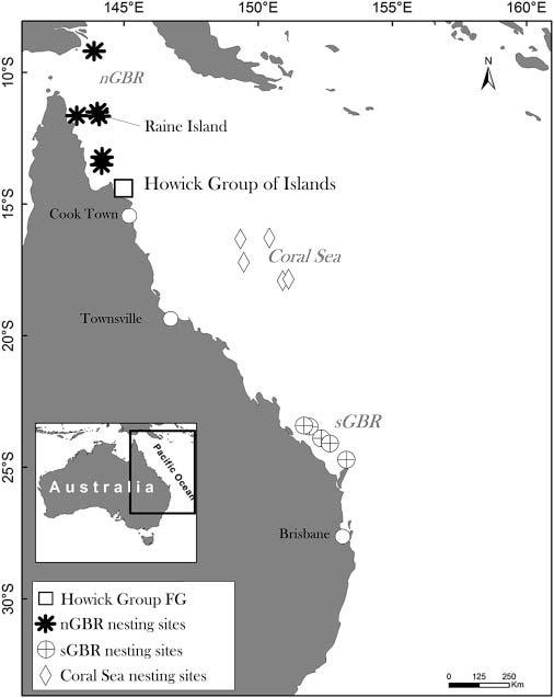 zonas gran barrera de coral