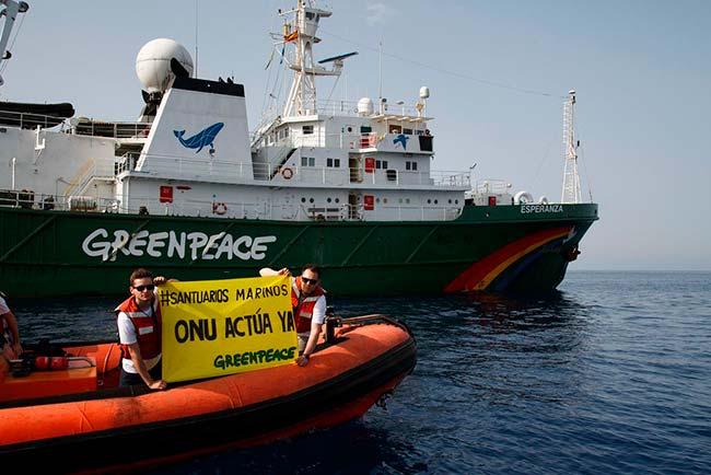 Greenpeace reclama Santuarios Marinos