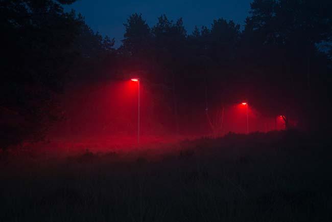 prueba efecto luz roja medio ambiente