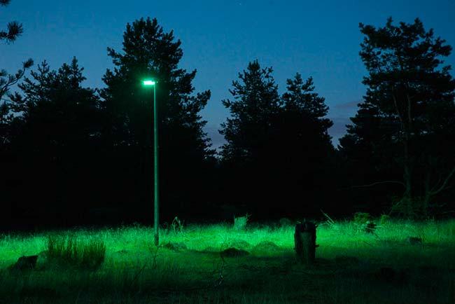 prueba efecto luz verde