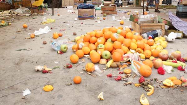 fruta desechada