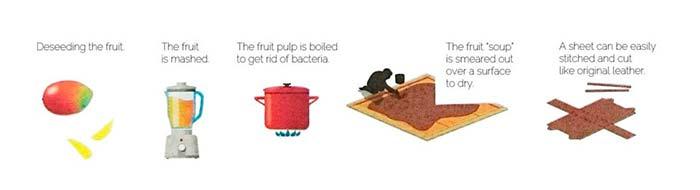 proceso cuero vegetal Fruitleather
