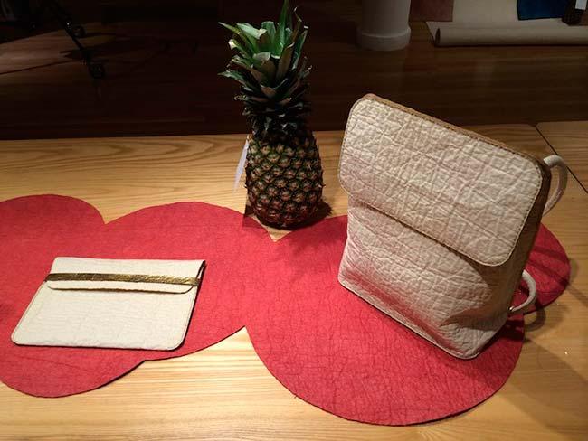 bolso cuero vegetal Piñatex