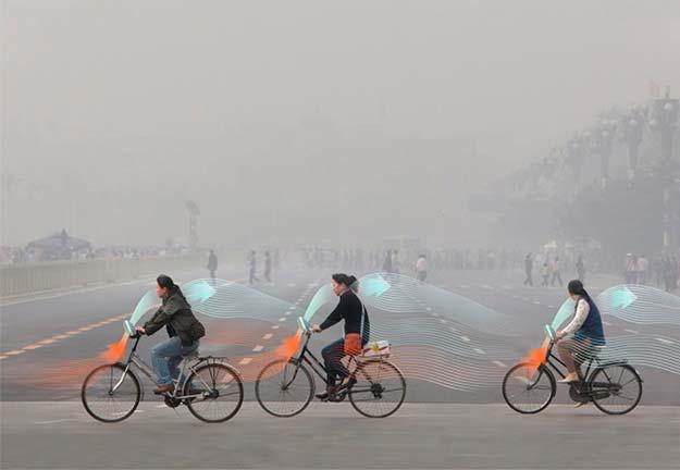 bicicleta contra smog