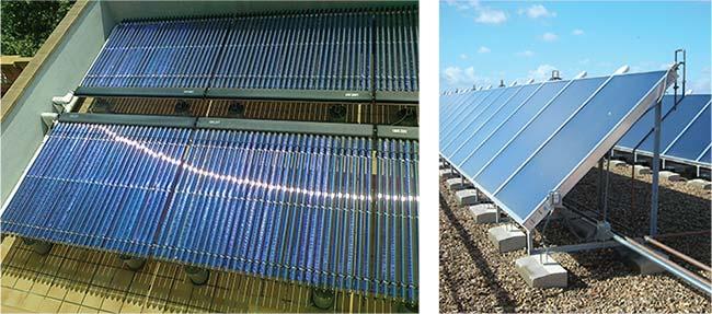 tipos paneles solares termicos