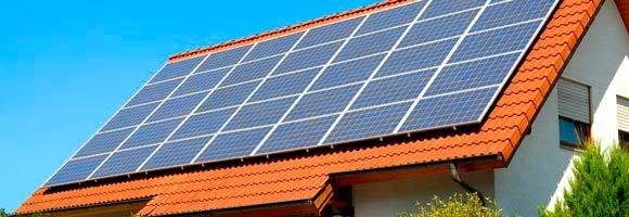 panel solar en tejado