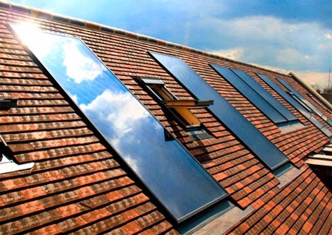 colectores solares termicos en tejado