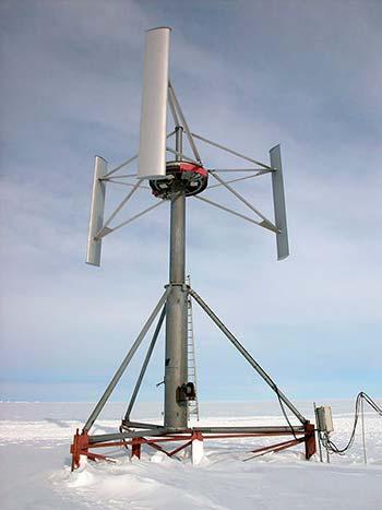 aerogenerador eje vertical Savonius Antartida