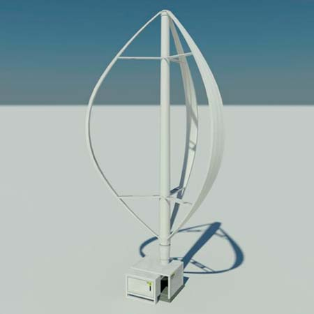 aerogenerador eje vertical Darrieus