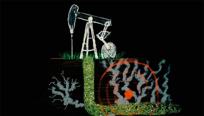 fracking dibujo