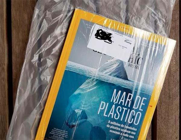 revista National Geographic sobre plastico