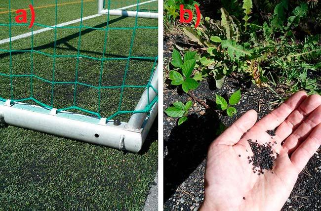 daño suelo cesped artificial