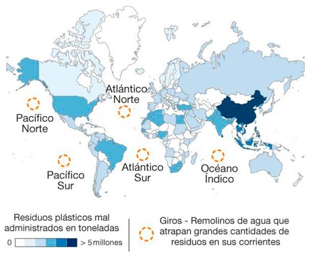 giros oceanicos mapa