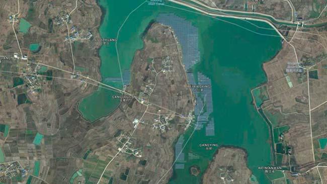 mapa planta solar flotante china