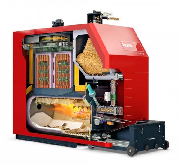 caldera de biomasa industrial