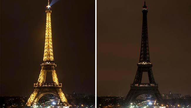 torre eifel apagada en la hora del planeta