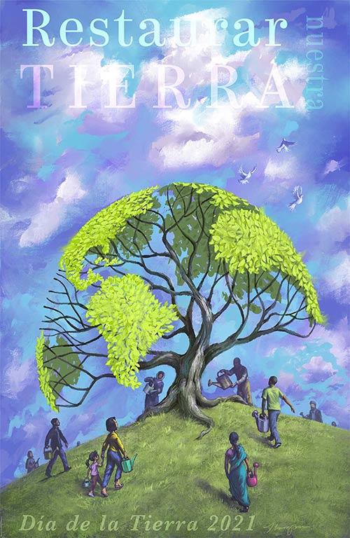 Poster oficial Dia de la Tierra 2021