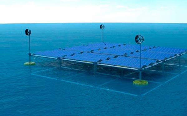 plataforma hibrida flotante energias renovables