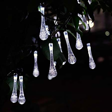 lamparas solares gota de agua