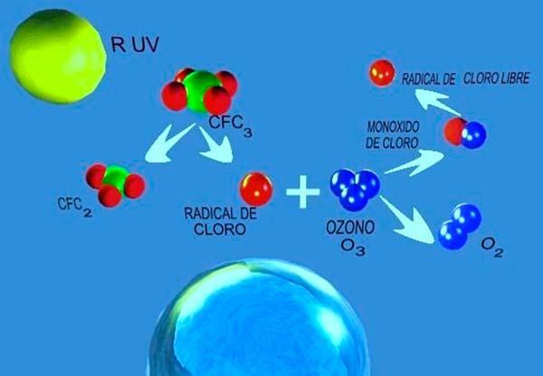 agujero de la capa de ozono causas