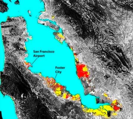 hundimiento del terreno de San Francisco mapa