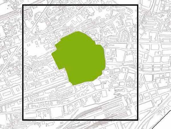 planificacion de gran parque en mapa