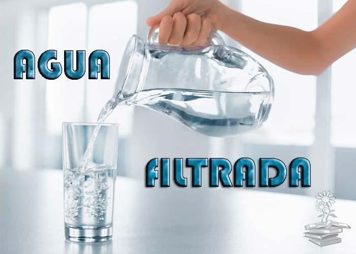 Agua filtrada, tipos de filtración de agua, filtros de agua y botellas filtradoras