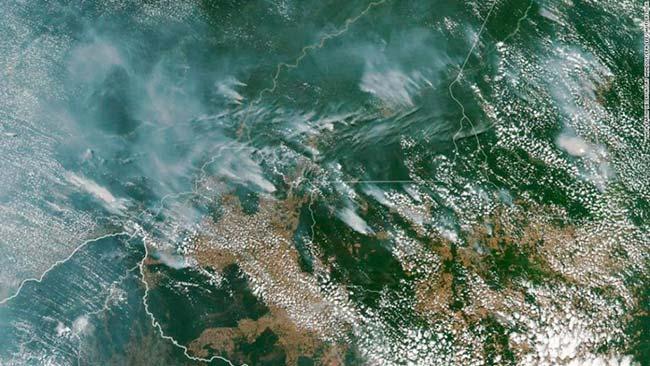 mapa satelite incendios Amazonas
