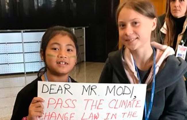 Licypriya Kanguajam y Greta Thunberg Cumbre del Clima 2019