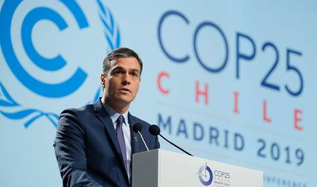 Pedro Sánchez en Cumbre del Clima 2019
