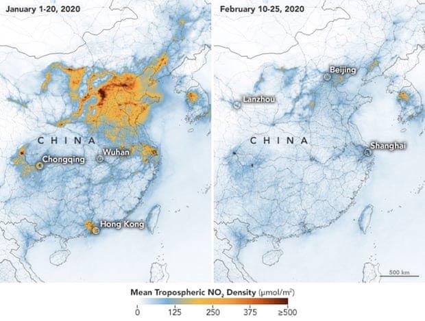 coronavirus desciende contaminacion del aire en China
