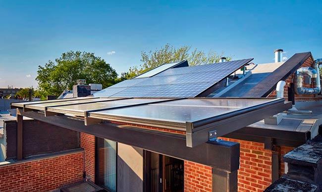 cubierta solar primera casa pasiva plus Estados Unidos