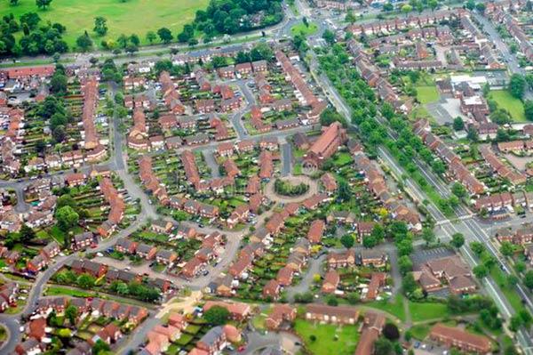 Birmingham Reino Unido vista aerea