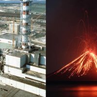 nueva erupcion del volcan Krakatoa e incendios Chernobil Portada