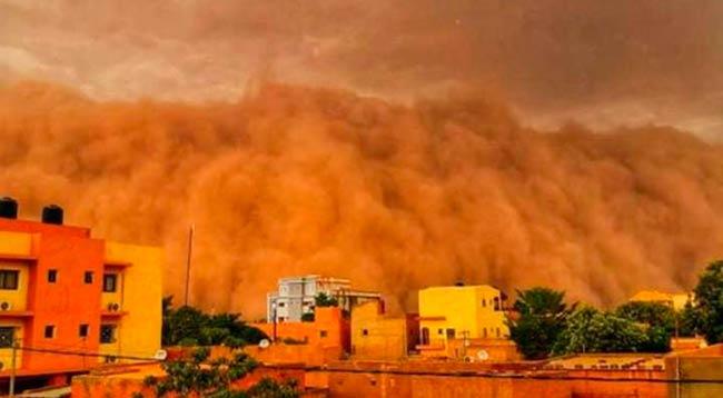 Tormenta de arena y polvo Níger