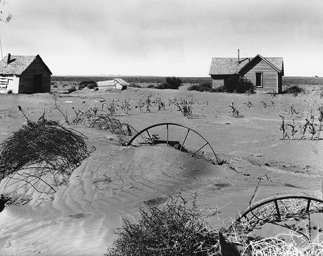 efectos arena tormenta Dust Bowl