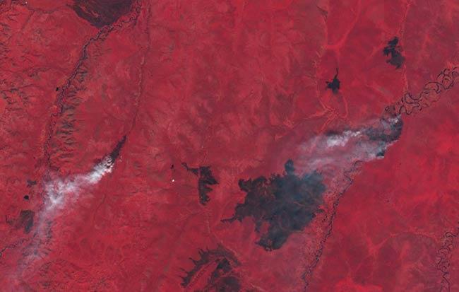 incedios Siberia satelite