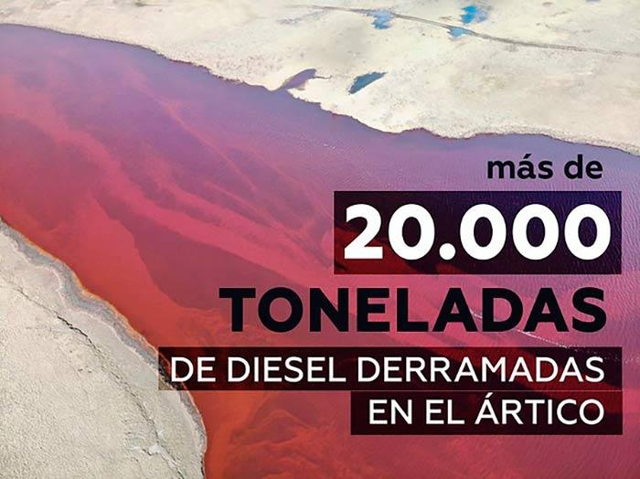 vertido de combustible diesel Portada Greenpeace