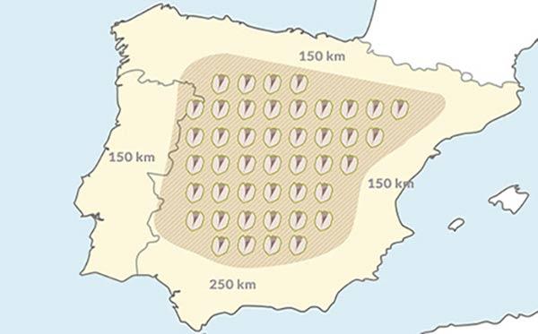 mapa de España plantar pistachos precio