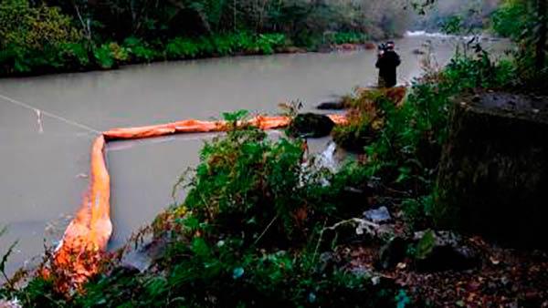 emergencia por contaminacion en el rio Eume