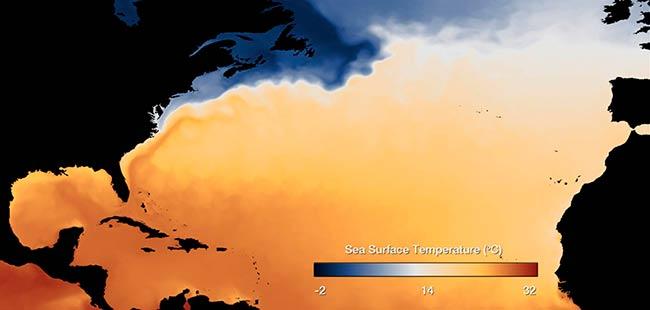 temperaturas superficie del mar