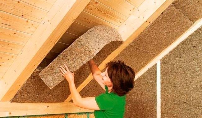 paneles de fibra de madera aislantes
