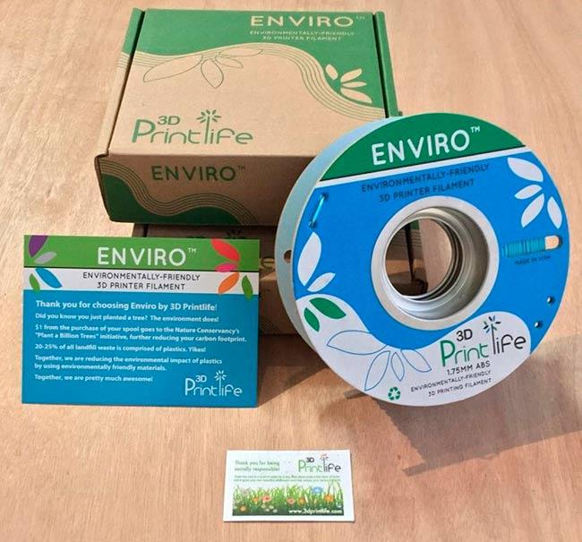 filamentos de plastico ecologico 3D Enviro ABS