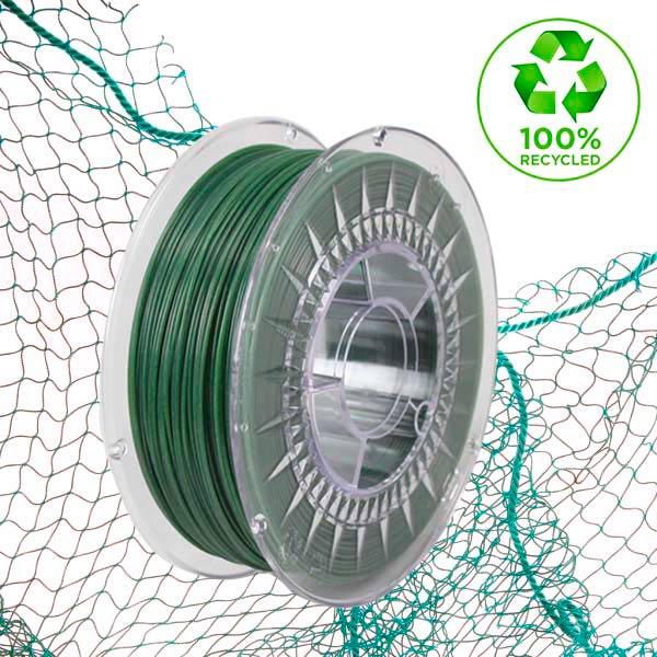 filamentos de plastico ecologico para impresora 3D de restos de redes de pesca