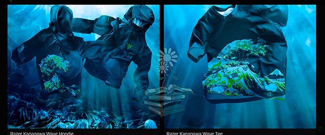 camiseta y sudadera Razer Kanagawa Wave