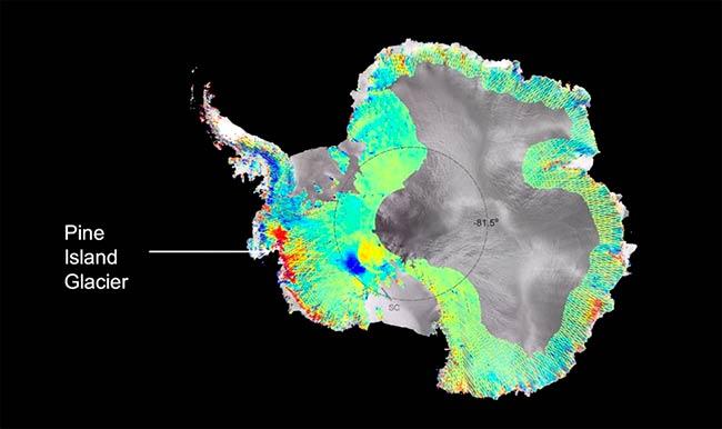 actividad volcanica bajo glaciar pine island antartida